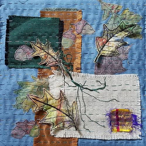 Quilt Leaf square