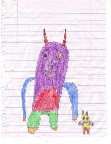 Kai monster drawing