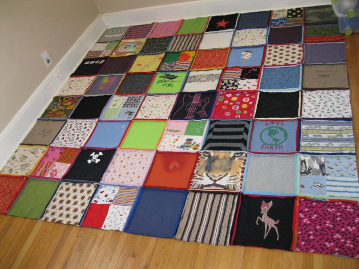 Tshirt quilt front